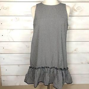 Zara | Gingham Print Ruffle Hem Dress